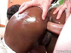 White Studs Are Sharing Sexy Black Chick 3