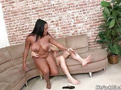 Fleshy Black Babe Is Fucked By White Guys 2